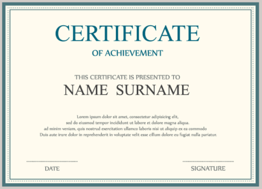 certificate of achievement webinato